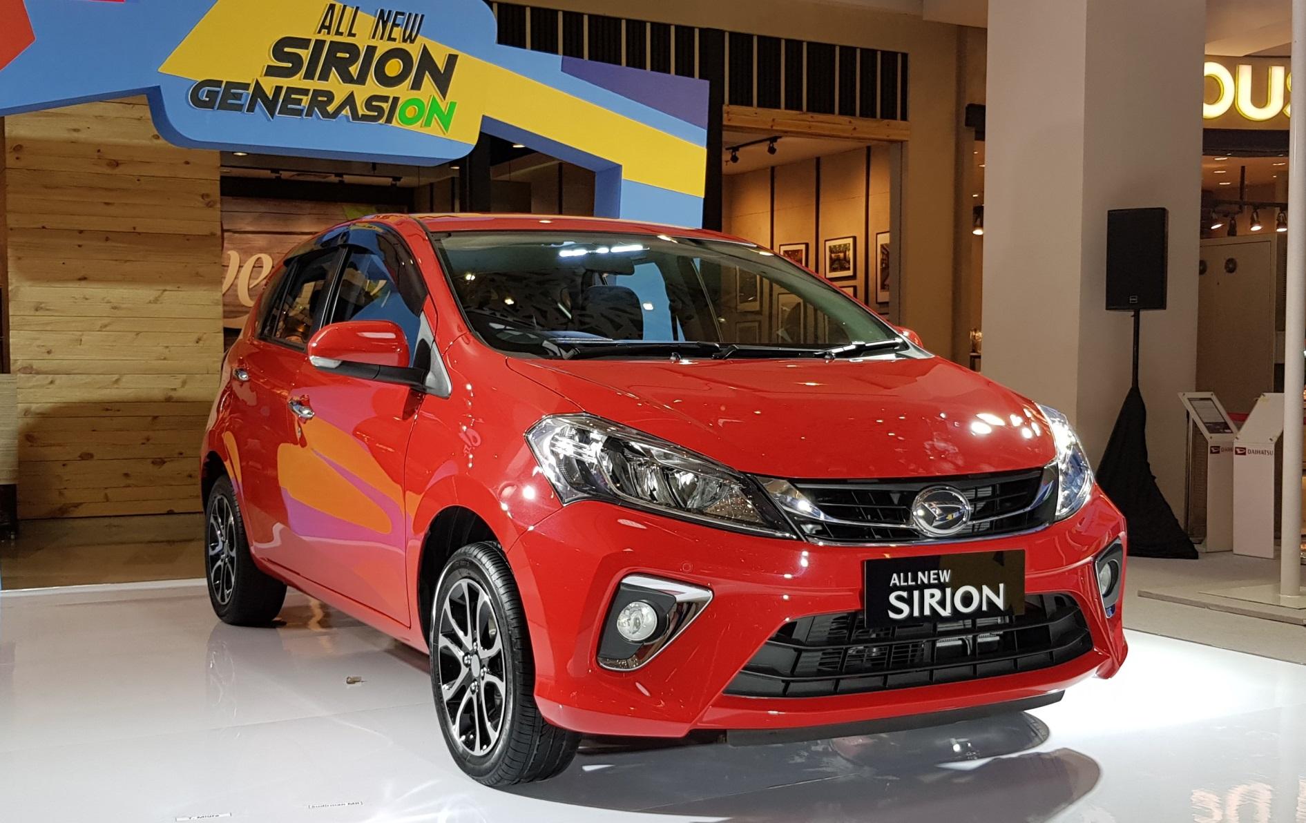 Tampak depan All New Sirion dengan warna baru 'Lava Red', tampil dengan desain yang stylish